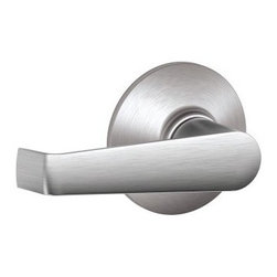 SCHLAGE LOCK - Elan Passage Knob Satin Chrome - For residential single and multi-family hall/closet doors. Both levers always unlocked. Zinc based and plated, elegant, solid lever designing. 3 piece assembly for easy installation.