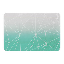 "KESS InHouse - Mareike Boehmer ""Simplicity"" Teal White Memory Foam Bath Mat (17"" x 24"") - These super absorbent bath mats will add comfort and style to your bathroom. These memory foam mats will feel like you are in a spa every time you step out of the shower. Available in two sizes, 17"" x 24"" and 24"" x 36"", with a .5"" thickness and non skid backing, these will fit every style of bathroom. Add comfort like never before in front of your vanity, sink, bathtub, shower or even laundry room. Machine wash cold, gentle cycle, tumble dry low or lay flat to dry. Printed on single side."