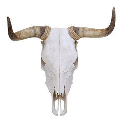 Walls Need Love - Spanish Fighting Bull Skull Mount Decal - There's an atmosphere you can only get with the sound of heels clicking to a hot guitar beat on a dusty summer night. This bull's skull decal is shorthand for that feeling — the energy, the dance, the fight. Adorn your wall of travel photographs with this striking decal and listen out for the stamp of hooves and heels in the distance.