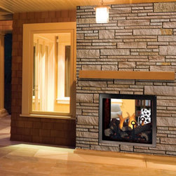 Majestic - Majestic Marquis See-Thru Direct Vent Gas Fireplace - KSTDV500 - Shop for Fire Places Wood Stoves and Hardware from Hayneedle.com! The Majestic Marquis See-Thru Direct Vent Gas Fireplace brings twice the luxury to your home with a 2-sided design that makes it possible to enjoy the flames from entirely separate locations. In addition to the fireplace's dramatic pass-through effect this unit also features a mood-setting accent light up to 56 000 BTUs of warmth that actually lowers heating costs and Total Signature Command Control an exclusive system that gives you all the features you could possibly want at the touch of a finger.About MajesticFor over 50 years Majestic has crafted a name synonymous with quality wood and gas fireplaces for the home. With a vast array of products and styles including wood electric modern and traditional Majestic has something for every taste and decor. Majestic products are built to last offering a quality construction and innovative design structure that has made them a premier choice for homes across North America and beyond.