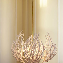 Coral Chandelier - This gorgeous chandelier adds the shape of coral and a light, ethereal glowing form overhead.