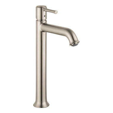 Hansgrohe - Hansgrohe Talis C Tall Single-Hole Lavatory Faucet, Brushed Nickel (14116821) - HansGrohe 14116821 Talis C Tall Single-Hole Lavatory Faucet, Brushed Nickel
