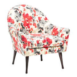 Calvin Chair - A unique design that is rising up the charts as a top pick for luxury living. The Calvin Chair features a beautiful patterned upholstery.