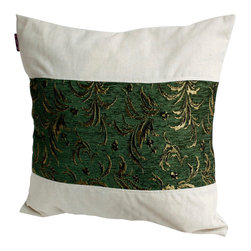 Blancho Bedding - Exquisite Emerald Linen Patch Work Pillow Floor Cushion  19.7 by 19.7 inches - Aesthetics and Functionality Combined. Hug and wrap your arms around this stylish decorative pillow measuring 19.7 by 19.7 inches, offering a sense of warmth and comfort to home buddies and outdoors people alike. Find a friend in its team of skilled and creative designers as they seek to use materials only of the highest quality. This art pillow by Onitiva features contemporary design, modern elegance and fine construction. The pillow is made to have invisible zippers, linen shells and fill-down alternative. The rich look and feel, extraordinary textures and vivid colors of this comfy pillow transforms an ordinary, dull room into an exciting and luxurious place for rest and recreation. Suitable for your living room, bedroom, office and patio. It will surely add a touch of life, variety and magic to any rooms in your home. The pillow has a hidden side zipper to remove the center fill for easy washing of the cover if needed.