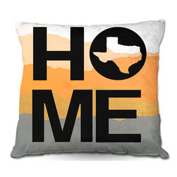 DiaNoche Designs - Pillow Woven Poplin - Jackie Phillips Home Texas Orange - Toss this decorative pillow on any bed, sofa or chair, and add personality to your chic and stylish decor. Lay your head against your new art and relax! Made of woven Poly-Poplin.  Includes a cushy supportive pillow insert, zipped inside. Dye Sublimation printing adheres the ink to the material for long life and durability. Double Sided Print, Machine Washable, Product may vary slightly from image.