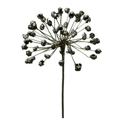 HomArt - Agapanthus Stake - Decorate your garden or indoor potted plants with this eye-catching Agapanthus Stake. The piece's galvanized metal provides an interesting contrast to its delicate display of African agapanthus flowers. Its sturdy base allows for easy placement in soil or grass.