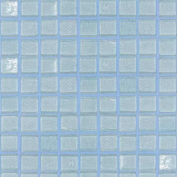 "SICIS - SICIS Water Glass Blue Sky 5/8"" x 5/8"" Mosaic - A mosaic that can make entire structures water-like....Transparency is the watchword of the Water Glass Mosaic Collection. On seeing them, the effect is like crystal-clear, bright colored water. Aka Liquid Reflection! But the color isn't the only thing. Imagine the feeling of precious stones running through your fingers. The Water Glass collection through infinite combinations and decorations, can create environments that are intersected by light. Water Glass is formed of lightweight glass 'pixels', cut with mathematical precision and mounted on a mesh following individual, custom-designed chromatic sequences. And all is linked with SICIS' heritage of research and experimentation. State-of-the-art technology, top quality materials and more are behind Water Glass."
