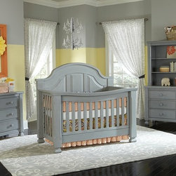 Sugar Crib in Vintage Grey - •Sugar is a solid panel headboard crib that converts to a Toddler bed and either a Full or a QUEEN bed!