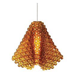 Ideas for Bathroom Light Fixtures - Crystal beads strung together create this pendant that will give any bathroom a big dose of glamour. Hang this fixture over the sink and mirror to sprinkle a soft glow throughout the space and to make a grand impression.