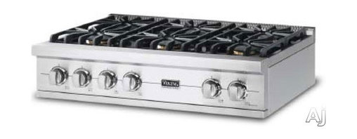 "Viking 36"" Pro-Style Gas Rangetop with 6 Sealed Burners, - The rangetop Viking will provide all of the BTU's you require for professional results. Add double ovens elsewhere for a flexible kitchen layout."