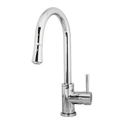 Virtu USA - Virtu USA Sedna PSK-1003 Kitchen Faucet - The Sedna single handle kitchen faucet comes complete with housing designed to resist the wear and everyday use and then some. Take notice in the beautiful modern design accompanied by an ADA compliant lever handle for a much more simpler accessibility. It is immaculately designed with simplicity while maintaining multifunctional purposes. The Sedna kitchen faucet was designed with both luxury and practicality in mind.