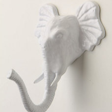 Eclectic Wall Hooks Encased Elephant Hook