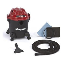 "Shop Vac - Shop-Vac 5 Gal. 2Hp Wet/Dry Vacuum - Vac is full featured wet/dry vac with 6 foot power cord, inlet accepts both 1.25"" and 2.5"" hoses. Includes: 7' x 1.25"" hose, gulper nozzle; Filters: foam sleeve, reusable disc filter.          This item cannot be shipped to APO/FPO addresses.  Please accept our apologies"