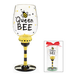 Burton & Burton - Queen Bee Wine Glass - Decorative Cup - Cute And Fun For Any Occasion - What better way to wind down your evening than with a delicious glass of wine sipped from one of our fashionable wine glasses? Or perhaps you're looking for the perfect glass for a ladies' night in. Well, look no further!