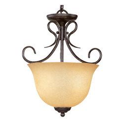 Millennium Lighting - Millennium Lighting 753 3 Light Dual Mount Pendant / Semi-Flush Ceiling Fixture - Features: