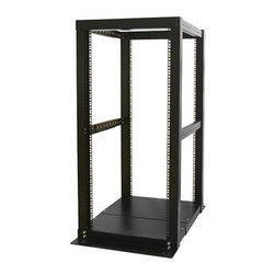 Startech.com - DuraRak 25U 4-Post Open Rack - DuraRak 25U 4 Post Open Rack. Adjustable posts for added versatility. Industry-standard design for compatibility with equipment from popular manufacturers. Ships flat-packed for easy handling and quick assembly.