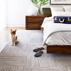 FLOR - Lacebark ($12 per tile): Soft texture in muted, earthy color variations–reminiscent of the organic striations found along a canyon wall.