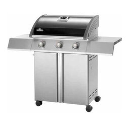 Napoleon - Napoleon SE Series Grill LP Stainless Steel-Black - Up to 40,500 BTUs|Up to 655 sq. in. total cooking surface|Stainless steel sear plates and tube burners|Folding side shelves with integrated utensil holders|JETFIRE ignition for quick and easy start ups   This item cannot ship to APO/FPO addresses.  Please accept our apologies.