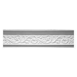 Renovators Supply - Cornice White Urethane Somber Water Cornice | 12368 - Cornices: Made of virtually indestructible high-density urethane our cornice is cast from steel molds guaranteeing the highest quality on the market. High-precision steel molds provide a higher quality pattern consistency, design clarity and overall strength and durability. Lightweight they are easily installed with no special skills. Unlike plaster or wood urethane is resistant to cracking, warping or peeling.  Factory-primed our cornice is ready for finishing.  Measures 6 1/2 inch H x 78 5/8 inch L.