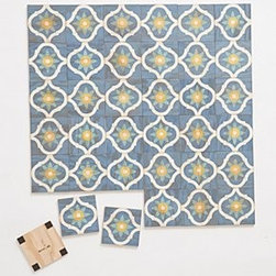 "Anthropologie - Calypso Wall Tiles - By MoonishIncludes 36 tilesPlywood, acrylic, magnets, steel6"" squaresCovers 9 square feet0.5"" projectionHandmade in USA"