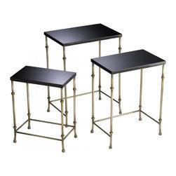 Joshua Marshal - Antique Flemish and Black Sanders Nesting Tables - Antique Flemish and Black Sanders Nesting Tables