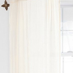 Brass Crisscross Swing Curtain Rod - This bendable rod is cool because you just swing it open and close it when you want privacy.