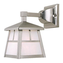 Vaxcel - Mission Stainless Steel Outdoor Wall Sconce - Vaxcel OW14663ST Mission Stainless Steel Outdoor Wall Sconce