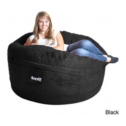 None - Slacker Sack 5-foot Round Microfiber Suede Large Foam Bean Bag Chair Cover - Durable and soft the Slacker Sack Microfiber Suede Bean Bag Chair Outer Cover is designed for 5 foot bean bag chairs. This super soft bean bag cover also features a zipper closure and is machine washable.