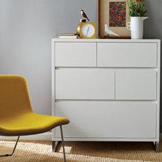 Hudson 5-Drawer Dresser - White