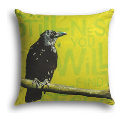 """Carrier Collective - """"Stillness"""" Decorative Pillow - Crafted of linen/cotton fabrics, Carrier Collective Art Pillows are created from the original Mixed Media and Acrylic Paintings of the artist/owner Angie Carrier."""