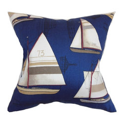 Pillow Collection - The Pillow Collection Hemavan Nautical Pillow - Regatta Multicolor - P18-D-21013 - Shop for Pillows from Hayneedle.com! Come sail away come sail away come sail away with The Pillow Collection Hemavan Nautical Pillow - Regatta. Made of 100% soft cotton this nautical square pillow features a plush 95/5 feather/down insert for luxurious softness. The sailboat print and traditional seafaring colors make this a unique and stunning addition to any room in your home.About The Pillow CollectionIdentical twin brothers Adam and Kyle started The Pillow Collection with a simple objective. They wanted to create an extensive selection of beautiful and affordable throw pillows. Their father is a renowned interior designer and they developed a deep appreciation of style from him. They hand select all fabrics to find the perfect cottons linens damasks and silks in a variety of colors patterns and designs. Standard features include hidden full-length zippers and luxurious high polyester fiber or down blended inserts. At The Pillow Collection they know that a throw pillow makes a room.