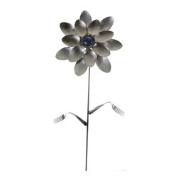 Forked Up Art - Cleopatra - Flower - A great display for the garden!