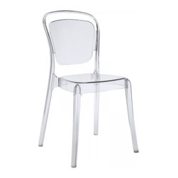 Modway Imports - Modway EEI-1070-CLR Entreat Dining Side Chair In Clear - Modway EEI-1070-CLR Entreat Dining Side Chair In Clear