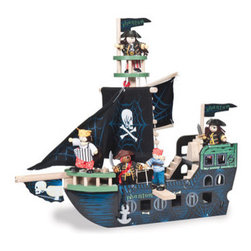 Le Toy Van Ghost Ship - This pirate ship makes a nice decor statement on a shelf, and it can also be taken down for play time.