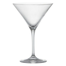Set of 8 Viv Martini Glasses - Everyday stemware, beautifully crafted from top to bottom. The classic V-shaped martini is finished with a smooth fire-polished rim and pulled stem. Exquisite clarity at an exceptional price.