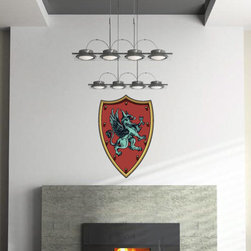 Family Crest Vinyl Wall Decal FamilyCrestUScolor003; 72 in. - Vinyl Wall Decals are an awesome way to bring a room to life!