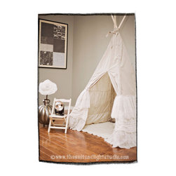 Custom Lace Ruffle Tepee by Teepee and Tent - The layers of ruffles perfectly soften up the traditional design of this good looking tepee.