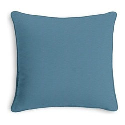 Teal Blue Cotton Twill Custom Throw Pillow - Black and white photos, Louis XIV chairs, crown molding: classic is always classy. So it is with this long-time decorator's favorite: the Corded Throw Pillow. We love it in this teal blue medium weight cotton twill: the casual classic solid.