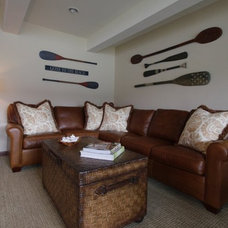 Beach Style Family Room by AM Interior Design