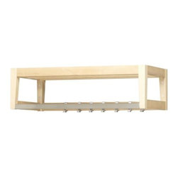 Sarah Fager - STÄLL Hat Rack, Birch/Stainless Steel - You'll need a spot to store dress-up shoes and clothes. I'm thinking this coat rack will provide hang-up storage, and you can put accessories and shoes on top.