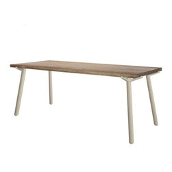 Blu Dot - Branch Dining Table by Blu Dot - If a tree lived indoors and had a fancy upbringing, it'd be the Blu Dot Branch Dining Table. Part nature, part contemporary statement piece, the Branch Table features a rustic Weathered Oak table top paired with smooth, powder-coated steel legs that mimic the boughs of a tree. In 1997, Blu Dot was established in Minneapolis by three college friends with a shared passion for art, architecture and design. Then and today, their goal is to bring good design to as many people as possible, collaborating to create modern home furnishings and accessories that are useful, affordable and exceedingly desirable.