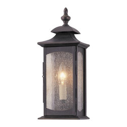 Murray Feiss - Murray Feiss Market Square Outdoor Wall Mount Light Fixture in Oil Rubbed Bronze - Shown in picture: Market Square Outdoor Lantern in Oil Rubbed Bronze finish with Clear seeded glass