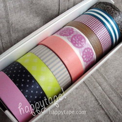 Quirky Bright Pack - What can't you freshen up with Washi tape? Ubiquitous for good reason, these sticky little rolls of joy add a ton of fun and style to nearly anything. Rip off a few pieces to tack up family photos with panache; line a plain vase or glass with alternating rows of color; or add it to wrapped presents or envelopes for a small delight when opened.
