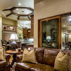 Mediterranean Family Room by Stotler Design Group