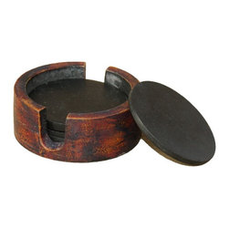 Rustic coasters - HandeMade with thick durable acacia wood.These coasters have a refined rustic feel to them.