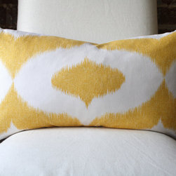 Yellow Ikat Pillow Cover by MarthaAndAsh - I love cheerful yellow accents, and can imagine a sunroom perking up with the addition of these sunny ikat pillows.