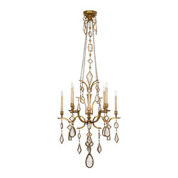 Fine Art Lamps - Fine Art Lamps 725440-3ST Encased Gems Silver Clear Crystal 8 Light Chandelier - 8 Bulbs, Bulb Type: 60 Watt Candelabra; Weight: 48lbs