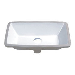 """TCS Home Supplies - 21 Inch Porcelain Ceramic Vanity Undermount Bathroom Vessel Sink - This large undermount sink makes a striking addition to any style of bathroom countertop. This rectangular undermount sink is available in white, biscuit, and black to blend well with many stone vanity top colors.Dimensions 21"""" x 13-3/8"""" x 7"""""""