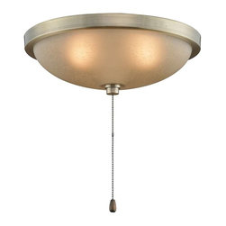 "Fanimation - Fanimation 14"" Low Profile Bowl Light Kit, Antique Brass - LK114AAB - Antique Brass Finish"