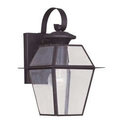 Livex Lighting - Livex Westover 2181-02 Outdoor Wall Lantern - Polished Brass - 7W in. Multicolor - Shop for Wall Mounted from Hayneedle.com! With a skinny frame and big appeal the Livex Westover 2181-02 Outdoor Wall Lantern - Polished Brass - 7W in. has a style your home s exterior will love. It s constructed of solid brass and has a gleaming polished finish. The slight scrollwork at the top and super-slender lines draw attention to the wonderfully shaped clear beveled glass shade. You ll just need to add one 100-watt medium base bulb (not included).About Livex LightingLivex Lighting is a manufacturer and distributor of decorative residential lighting. The company was founded in 1993 and is now headquartered in a 150 000-square-foot facility in Morristown New Jersey. Livex Lighting currently offers over 2 500 products ranging from lighting fixtures for indoor and outdoor applications to lampshades chandelier shades ceiling medallions and accent furniture. The goal of Livex Lighting is to provide the highest-quality product at the most affordable price. We are constantly responding to the ever-changing needs styles and fashions of the lighting industry while always maintaining the highest standards of quality.